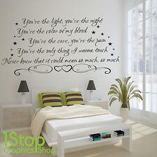 Ellie Goulding Love Me como tú pegatinas de pared-dormitorio de arte de pared calcomanía x368
