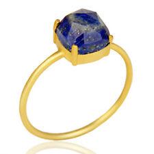 Designer Lapis Lazuli Gemstone Women's Ring 925 Silver Handmade Jewelry