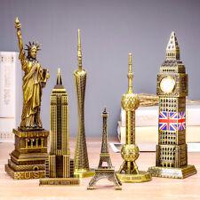 World landmarks Building metal model Eiffel Tower Decoration Big Ben birthday
