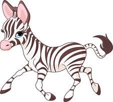 Adesivi murale bambino Zebra ref 3546 Dimensioni de 10 cm da 130cm di larghezza