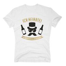 Herren T-Shirt - Ich heirate! Die Anderen saufen nur - mit Schnauzer JGA Heirat