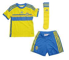 Schweden Sverige Kinder Trikot Set Adidas Maillot Camiseta Maglia