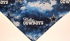 Dallas Cowboys Tie Dye Dog Bandana over the collar