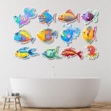 Lovely Tropical Cartoon Fish Decor Room Baby Washroom Decal Sticker cv1