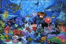 Undersea Tile Mural Agudelo Fish Sea Life Ceramic Backsplash FAA023