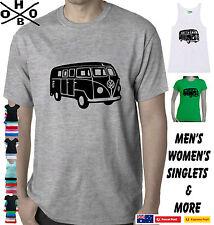 Kombi Van T-Shirts size Ladies Men's Singlets Kombie Hoodie VW Camper retro cool