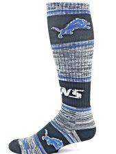 Detroit Lions Football RMC Striped Crew Socks Blue Black
