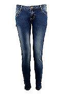 Womens Embroidered Bum Lifting Jeans Slim Fit Skinny Denim Stone Wash Q1531