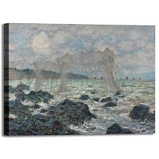 Monet reti da pesca design quadro stampa tela dipinto telaio arredo casa