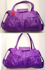 Seasonal Offer £6.99p Beautiful Large Soft Faux Leather Fashion Tote Bag Purple