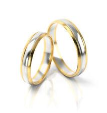 Ein Paar Trauringe Eheringe Gelbgold Weißgold Verlobungsringe Gravur Etui PL239