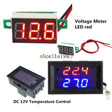 W1209WK LED Temperature Control Sensor Red LED Panel 3-Digital Voltage Meter