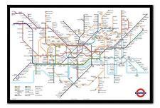 Encadrée Transport for London Underground tube carte poster nouveau
