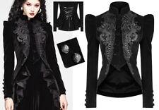 Veste blazer peplum velours broderie victorien gothique baroque corset PunkRave