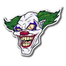 2 x Male Clown ADESIVO JOKER Spaventosa Halloween AUTO CASCO iPad Laptop Decalcomania # 4076