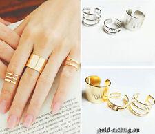Set: 3 Stück Midi Ringe Fingerspitzenring Obergelenkring Knöchelring Ring NEU