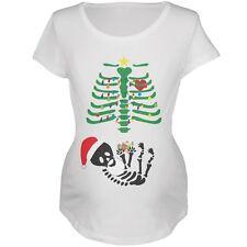 Christmas Tree Skeleton Robot Soft Maternity T-Shirt