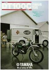 YAMAHA Brochure DT100 DT100C 1976 Sales Catalog REPRO