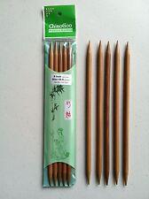 ChiaoGoo 8 Inch Moso Bamboo Dark Patina Double Point Knitting Needles MPN 1037
