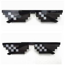 Thug Life Attitude Stylish Glasses 8 Bit Pixel Deal With IT Troll Sunglasses NEW