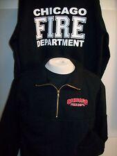 Chicago Fire Department Game Firefighter 1/4 Zip Job Shirt