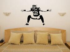Argile Matthews Vert Baie Caissette Football Américain Art Mural Autocollant