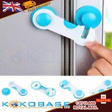 10 X Baby Kids Child Safety Catch Child Proof Cupboard Door Fridge Blue Cupboard