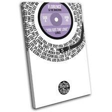 Florence and the Machine Lyrics Vinyl SINGLE CANVAS WALL ART Picture Print