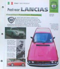 LANCIA Timeline History Brochure:APRILIA,STRATOS,RALLY,DELTA INTEGRALE,MAGGIA,Y,