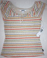 NWT Girls DKNY Sail Heath Striped Shirt Size S
