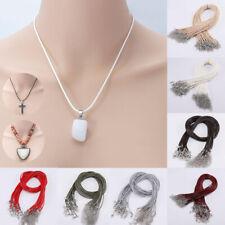 10 Pcs/set Women Men Pendant Braided Rope Adjustable Leather Necklaces Findings