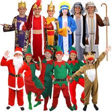 d778327d5a CHILDS CHRISTMAS COSTUMES GIRLS BOYS SANTA ELF NATIVITY RUDOLPH XMAS FANCY  DRESS