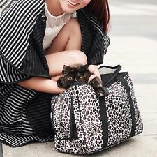 New Pet Dog Cat Carrier Foldable Travel Tote Leopard Shoulder Bag Oxford Purse