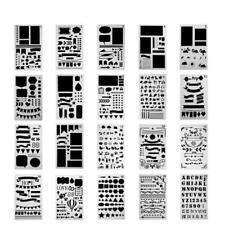 12/20pc Bullet Journal Stencil Plastic Stencils Journal/Notebook/Diary/Scrapbook