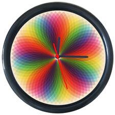 295136 Rainbow Mandala Flower of Life Wall Clock
