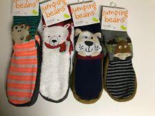 Infant or Toddlers Animal Slipper Socks Size 6 mos- 4T Bear, Moose, Dog, Monkey