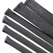 Φ1-18mm Black Braided Sleeving Cable Harness Sheathing Expanding Sleeve Densely
