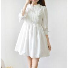 Lady Kawaii Princess Japanese Sweet Lolita Girl Lace White Vintage Dresses Fairy