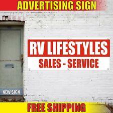 Rv Banner Advertising Vinyl Sign Flag camper repair Lifestyles Sales Service new