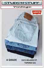 LEVIS VINTAGE (UN GRADE) DENIM JEANS 550 RELAXED FIT JAMBE CONIQUE W30 W31 W32