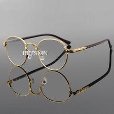 Vintage Oval Eyeglass Frame Man Women Plain Glass Clear Full Rim Spectacles Rx