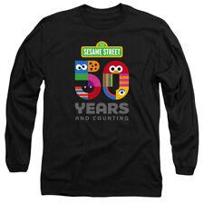 Sesame Street 50 Years Logo Adult Long Sleeve T-Shirt