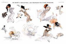 French Pinups: La Vie Parisienne - Girls Falling  - Prejelan - 1910