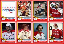 WASHINGTON CAPITALS 1974-75 High Grade Hockey Card Style Fridge Magnet U-PICK