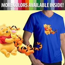 7c9d391a14c4e Disney Winnie the Pooh Bear and Tigger Best Friends BFF Mens Tee V-Neck