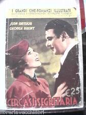 CERCASI SEGRETARIA Cineromanzo Jean Arthur George BRENT
