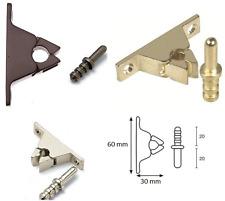Pinza fermaporte in ottone con incontro a piombare varie fniture