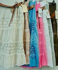 Damen Sommerröcke Strandrock  Stufenrock Knielang Rock passend für S - XL
