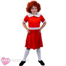 Poco huérfanos Girl Fancy Dress Costume Escuela Libro Semana película carácter Musical