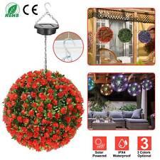 1-4Pcs 20 Led Solar Power Flower Ball Lights Outdoor Yard Tree Hanging Art Decor